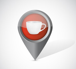 coffee mug pointer illustration