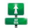 hot deal road sign illustration design