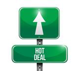 hot deal road sign illustration design