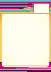 Colorful abstract letterhead.