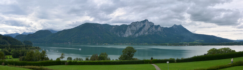 Mondsee panorama view