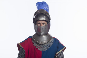 Man in knight costume, horizontal