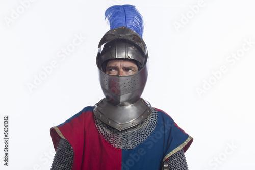 Man in knight costume, horizontal