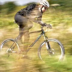 Radfahrer in Aktion