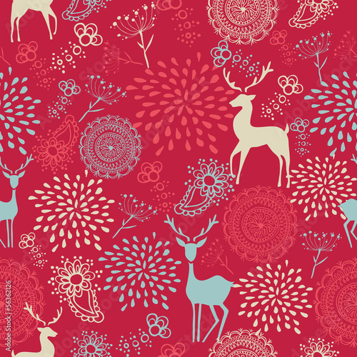 Materiał do szycia Colorful vintage elements seamless pattern background. EPS10 fil