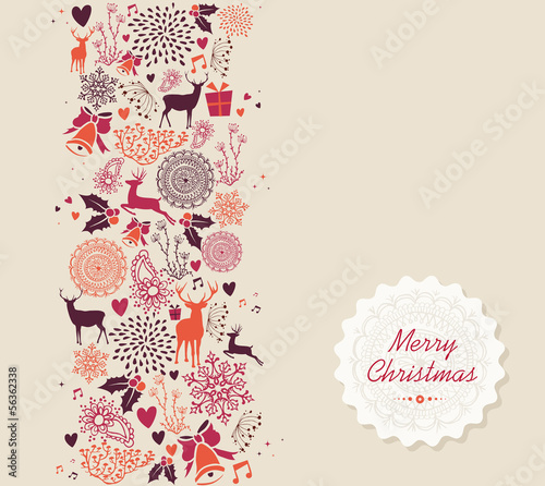 Merry Christmas elements seamless pattern composition. EPS10 fil