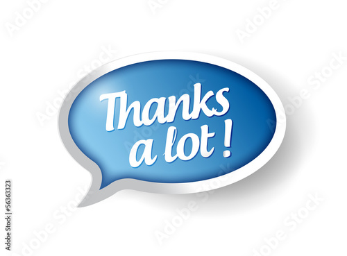 thanks a lot message bubble illustration