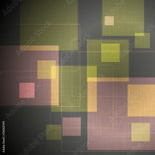 Abstract tech squares vector design