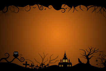 Halloween border for invitation card