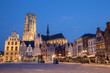 Mechelen - Grote markt and St. Rumbold's cathedral