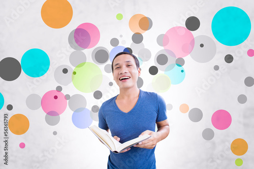 Student With Colorful Background