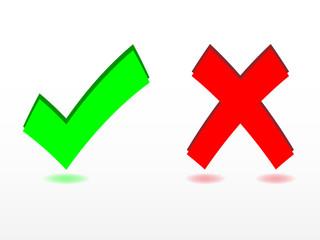 Check and cancel symbols
