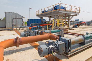dewatering and cleaning line
