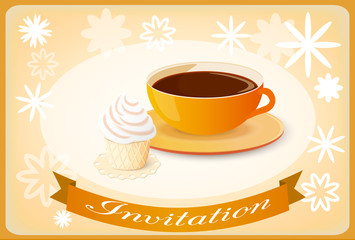 invitation with coffee and cake