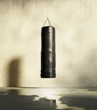Grungy training room for boxing