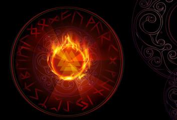 Валькнут в рунном огненном круге