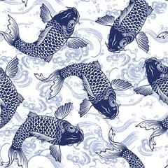 日本の鯉シームレス