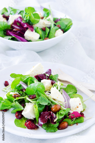 Fresh healthy green salad for lunch dinner