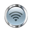 Gray wifi button with silver border