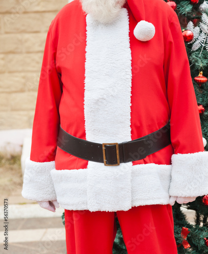 Santa Claus Standing Against Tree