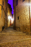 street of old european city in night. Toledo