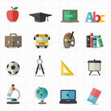 Education back to school icons