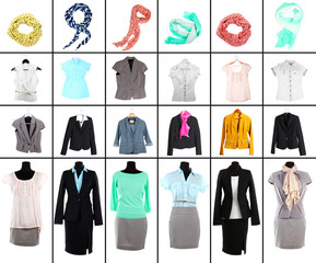 Collage of modern clothes