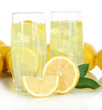 Delicious lemonade isolated on white