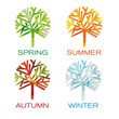 Four seasons. Spring, summer,autumn and winter