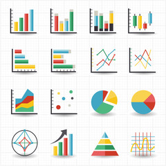 Graph chart icons