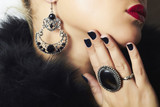 Jewelry and Beauty.beautiful woman.Fashion art photo.rings