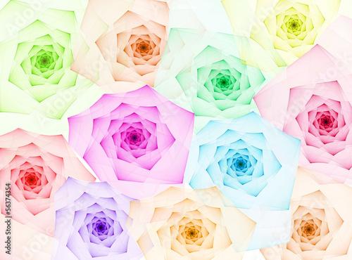 Obraz na Szkle fractal roses background