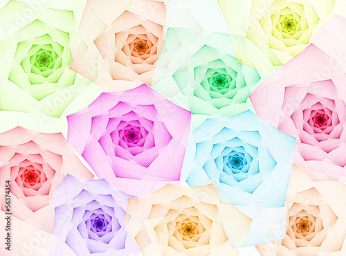 Obraz na Plexi fractal roses background