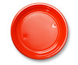 Empty red plate.