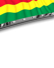 Designelement Flagge Bolivien