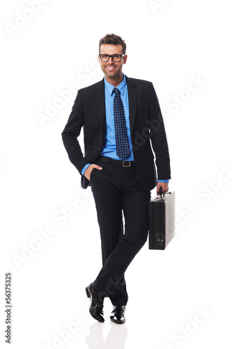 Portrait of intelligent business man