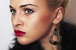 beautiful blond woman.Jewelry and Beauty.ornamentation