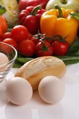 朝食の食材イメージ