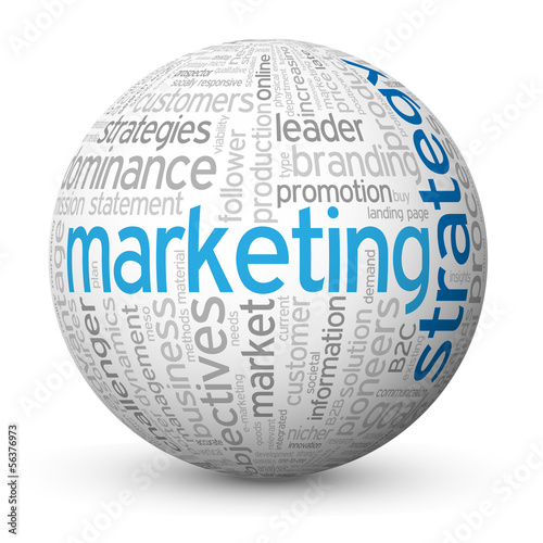 """MARKETING STRATEGY"" Tag Cloud Globe (advertising pr business)"