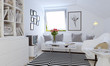skandinvisches wohnzimmer - scandinavian style living room