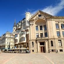 sqare en partie olda de Riga, en Lettonie