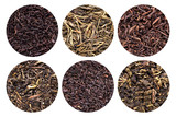 Assortment of dried tea.