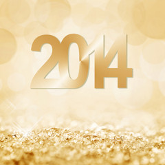 2014, neige fond doré