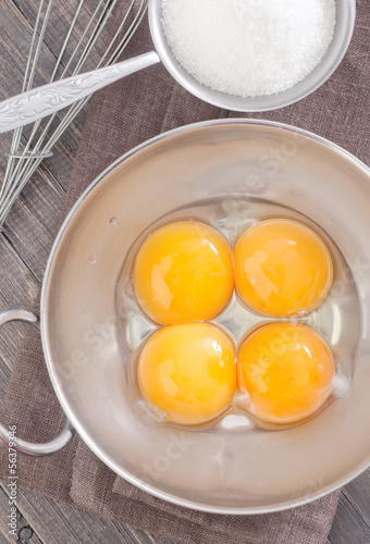 yolks and sugar