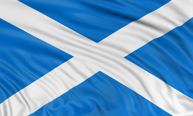 3D Scottish flag