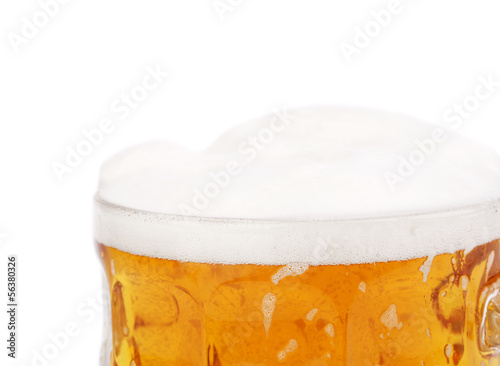 Mug of beer isolated on a white