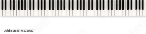 Piano keys (clipping path included)