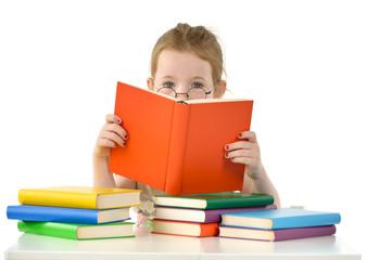 Mädchen mit Büchern