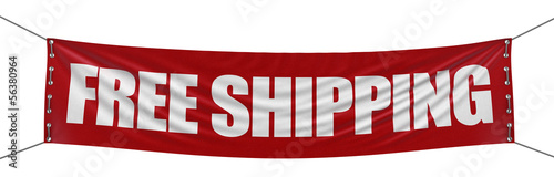 """free shipping"" banner  (clipping path included)"