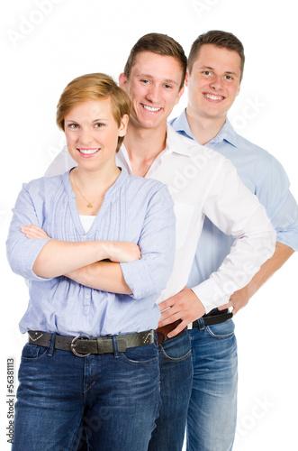 gruppe glücklicher studenten